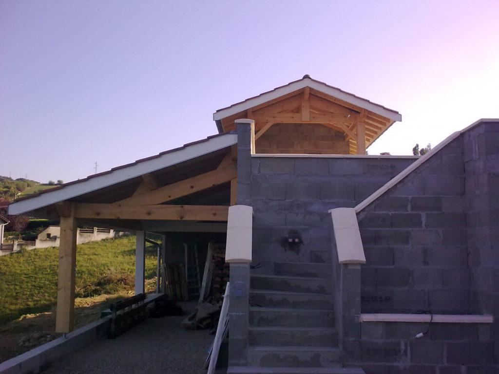 Charpente toit bois