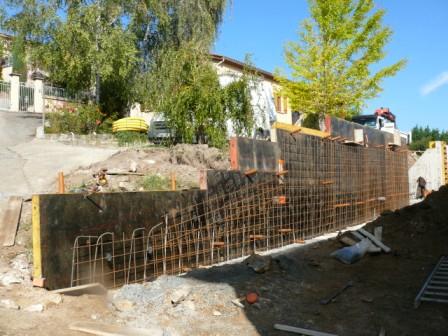 Construction d'un mur de soutènement maçonnerie ferraillage