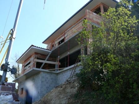 Construction d'une villa moderne