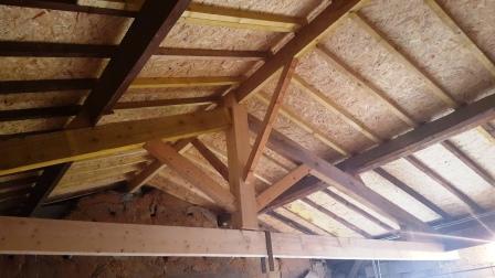 Rénovation toiture charpente en Isère