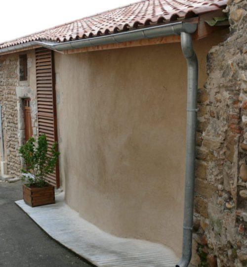 Rénovation de la façade d'une maison