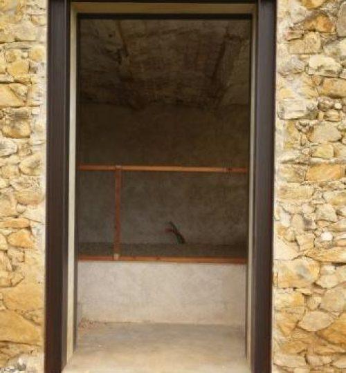 ouverture dans mur en pierre avec pose IPN