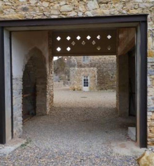 Création ouverture dans mur en pierre avec pose IPN